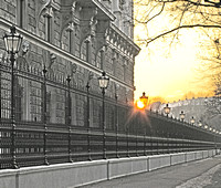The Ringstrasse (Hofburg) early in the morning