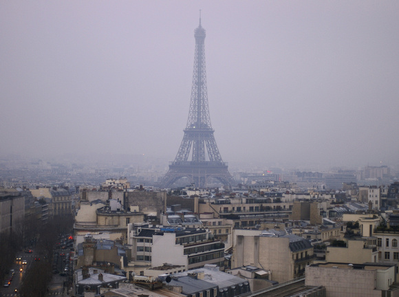 The Tour Eiffel as seen from the Arc de Triomphe